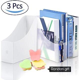 ALLYAOFA File Magazine Holder,3PCS Frosted Magazine Organizer Rack Files Folder,Ultra-Modern Storage Organiser Stationery ...