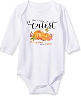 Baby Boys Girls Bodysuit Funny Infant Romper Jumpsuit Short and Long Sleeve Unisex Outfit Clothes 0-18 Months