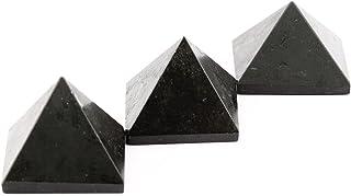 Aatm Black Tourmaline Gemstone 1 Inch Pyramid (Set of 3) Gift