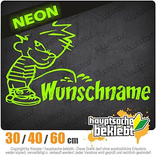 Kiwistar - Piss on Wunschname Heckscheibe in 15 Farben Aufkleber Sticker