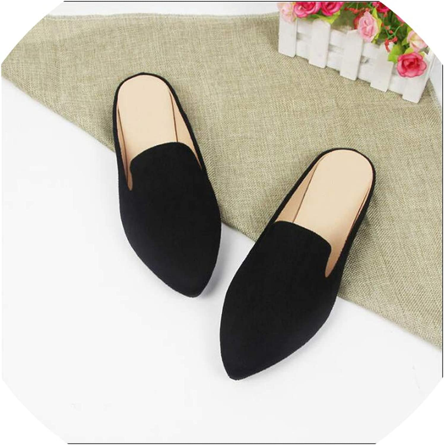 Summer Pointed Toe Flat Woman Slippers Flip Flops