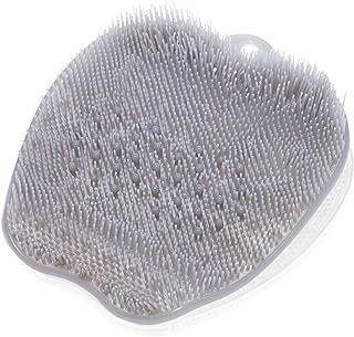 スッキリ気持ち良い フットブラシ マッサージしながら 足洗い フック掛け対応 滑り難い吸盤付き 全4色 (Mocha)