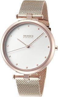 Skagen Women's Tanja Three-Hand Rose Gold-Tone Alloy Watch SKW2827