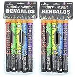Lesli 10 Bangalos Handfackel Ganzjahres - Feuerwerk Kat F 1 Bengalfeuer Lanzen