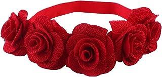 bebe niña recien nacida bebé turbante pelo ducha regalo bebe niña accesorio pelo (Roja) 2019 Todo de Rojo