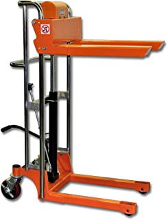 Bolton Tools New Foot Operated Pallet Lift Stacker Forklift Truck - 880 LB of Capacity - 43.3