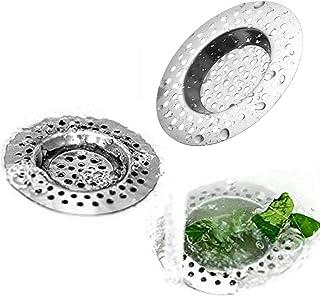 Stainless Steel Drain Sink Strainer Set of 3,Standard Anti-Clogging Kitchen Sink Strainer Cover Plug/Bathroom Strainer Dra...