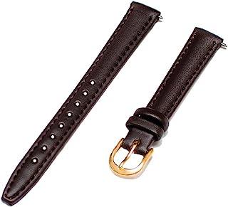 Voguestrap TX48412BRN Comfort Strap 12mm Women's Dark Brown Padded Stitched Calfskin Leather Watchband