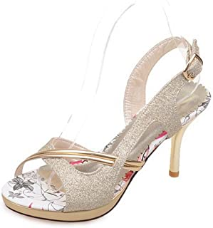 Women Stiletto Sandals Pointed Cross Strappy Open Toe Slingback High Heels  Party Dress Shoes d6a84894d439