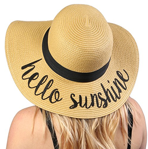 Embroidered Sun Hat - Hello Sunshine