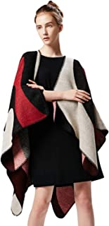 Women's Winter Wrap Blanket Poncho Cape Shawl Cardigans Sweater Coat