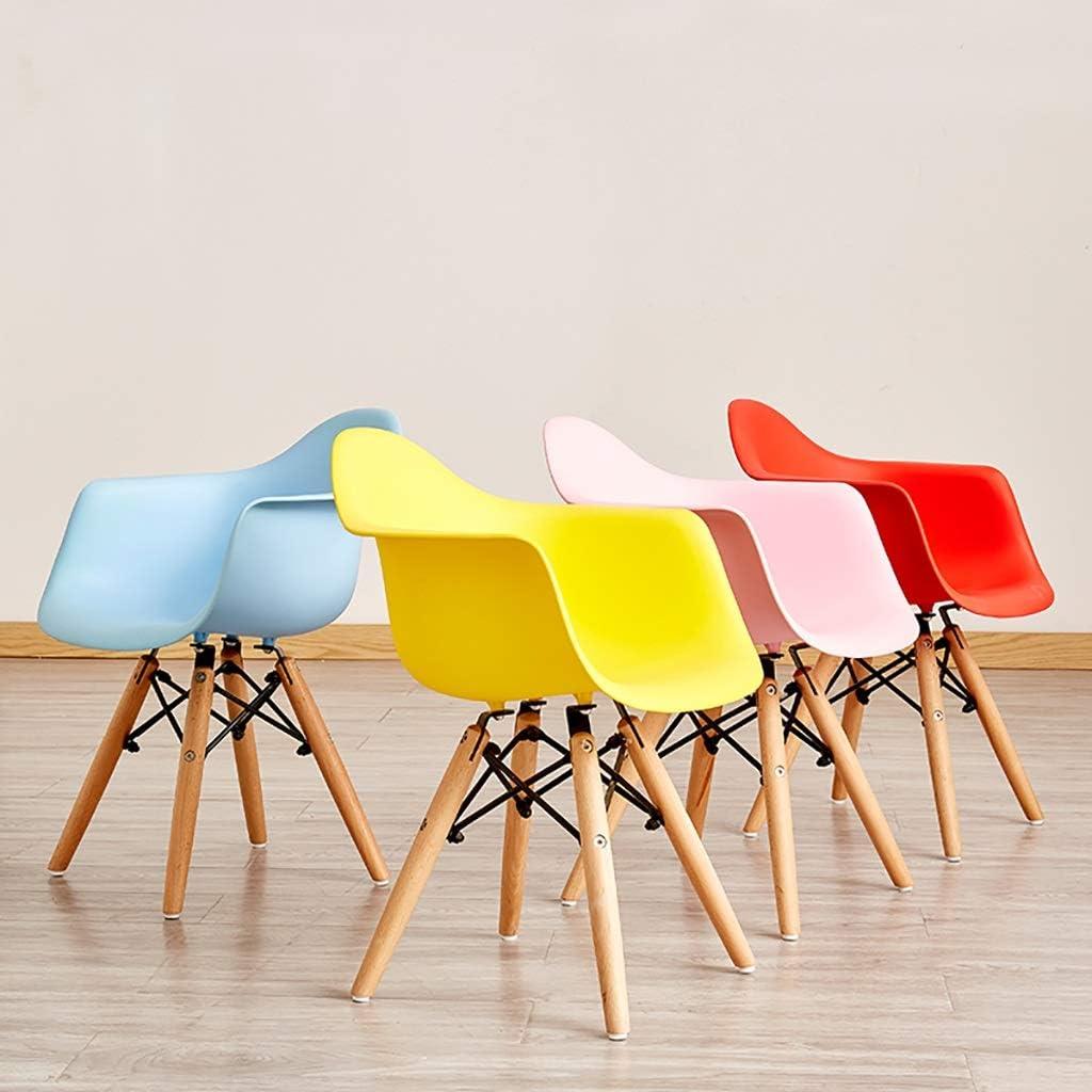 Chaise De Salle À Manger En Plastique PP Maison Fauteuil, Cuisine Restaurant Contre-chaise, Forme D'oiseau 30cm  Pour 60cm Table (Color : Yellow) Yellow