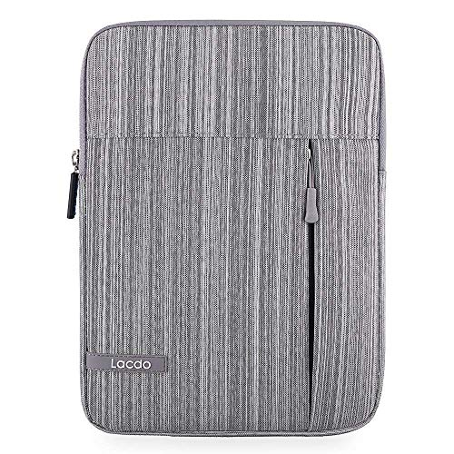 Lacdo 10 Inch Tablet Sleeve Case Bag for 10.2' New iPad 2019, 11' iPad Pro 2020, 10.5' iPad Air/iPad Pro, 9.7' New iPad Pro/iPad Air 2/iPad 4 3 2, 10.1' Samsung Galaxy Tab A, MediaPad T3 /T5, Gray