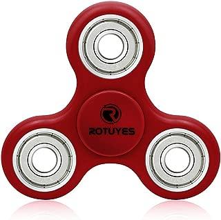 指こま ストレス解消 Relax 大人気 ADD &ADHD子供 大人に適用 フォーカスToy EDC Toy(レッド)