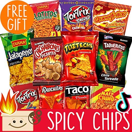 International Hot Chips Variety Pack FREE Surprise Very Spicy Snacks Box Mix Spicy Chips Variety product image