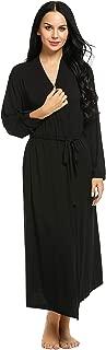 Womens Kimono Long Robes Full Lenght Bathrobe Soft Sleepwear V-Neck Ladies Loungewear S-XXL