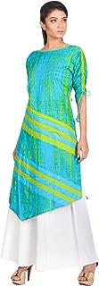 AGNIMITRA PAUL Women's Cotton Asymmetrical Hemline Salwar Suit Set