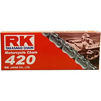RK Racing Chain GB420MXZ-104 Gold 104-Links Heavy Duty Chain with Connecting Link