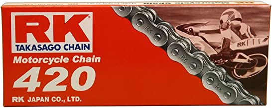 RK Racing Chain M420-130 (420 Series) 130-Links Standard Non O-Ring Chain with Connecting Link