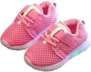 Super color LED Baby Boys Girls Shoes Kids Light Up Luminous Shoes Child Breathable Running Sneakers