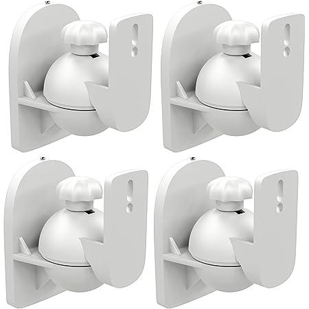 Deleycon 4 X Universal Speaker Wall Mount Bracket Box Elektronik