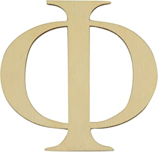Greek Letters 6 inches Tall in Various thicknesses (Phi, 1/8