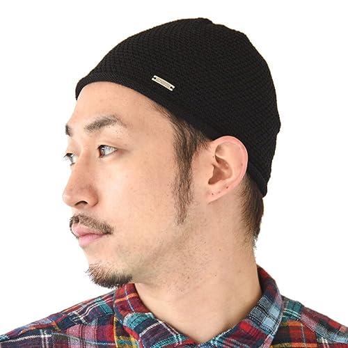 98ef7b21b4c Charm Mens Skull Cap Knit - Linen Kufi Hat Japanese Fashion All Season  Muslim Prayer Hat