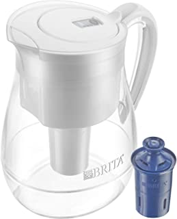 Brita Large 10 Cup Water Filter Pitcher with 1 Longlast Filter, Reduces Lead, BPA Free – Monterey, Cloud White