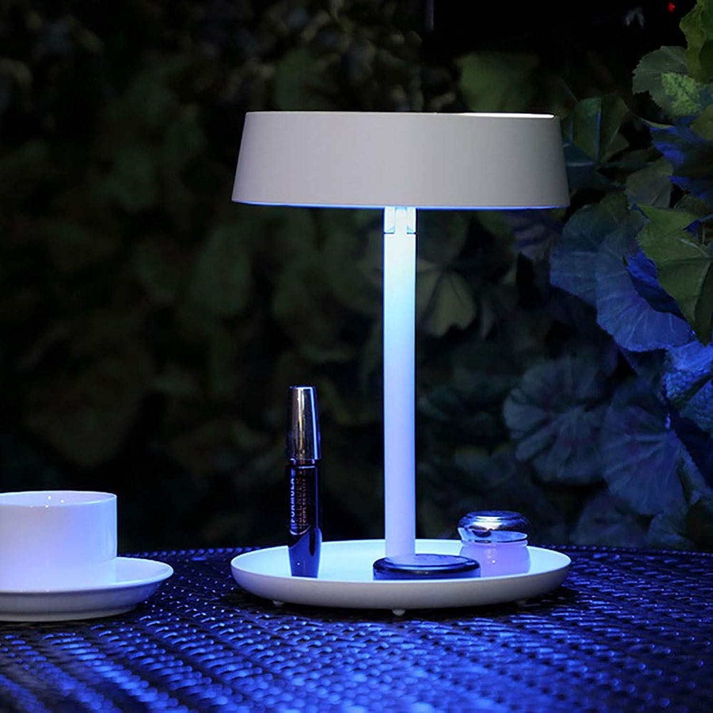 HHCC Make-up-Spiegel Nachtlicht mit LED Licht-Touchscreen 180 Grad Rotation abnehmbare Make-up-Damen Damen Kosmetik-Tisch-Lampe Nachttischlampe,Weiß