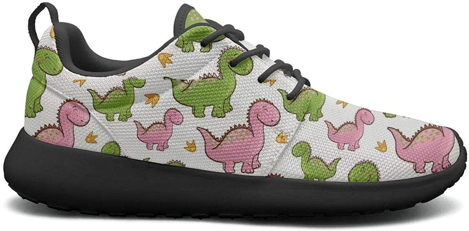 Gjsonmv Dinosaur mesh Lightweight shoes for Women Casual Sports Badminton Sneakers shoes