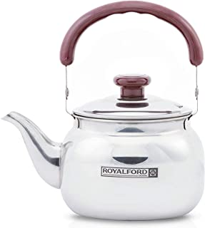Royalford Stove Top Tea Kettle – Large Capacity Stainless Steel Stove-top Tea Pot - Tea Coffee Pot Ideal for Home Office &...
