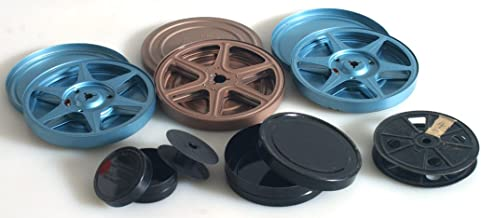 MOVIE REELS AND CANS, SET OF 6