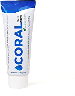Coral White Nano Silver Mint Toothpaste, Natural Fluoride Free Teeth Whitening Toothpaste, Coral Calcium SilverSol Infused SLS Free 4 Ounce (1 Pack)