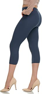 Extra Soft Capri Leggings with High Waist - 20 Colors - Plus