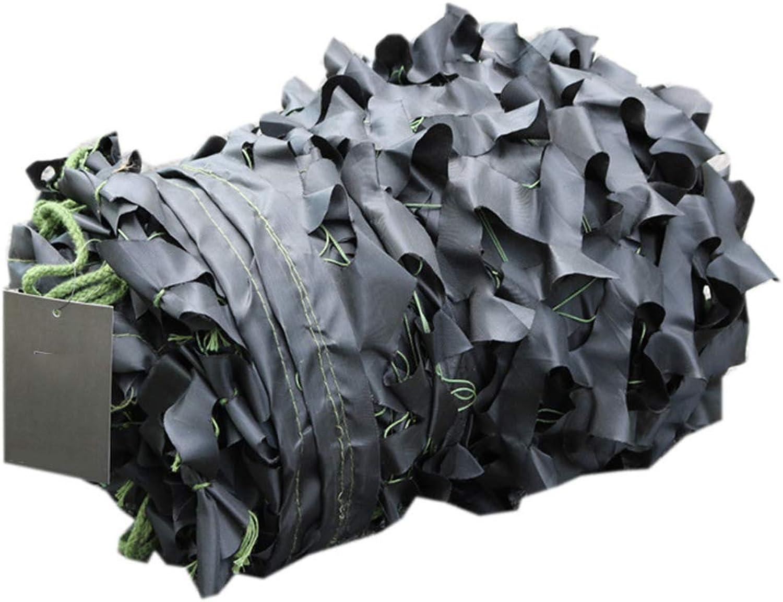 LHNLY-Markisen Tarnnetz Militr Verstrkte Camouflage Net Armee Sonnenschutz Tarnung Netz für Wald Sand Waldflche Waldlandschaft Deko Outdoor Camping Jagd,Schwarz