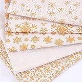 10 Pz Natale Cotone Tessuto Fasci Filo Oro FAI DA TE Tessuto di Cotone Patchwork Quadri Fiocco Campana Patchwork Gruppo Piccolo Panno Floreale