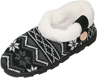 House Slippers 女士针织羊毛毛绒室内户外短靴(小号)