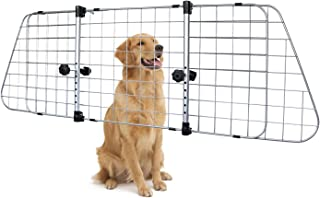 AmazonBasics Adjustable Dog Car Barrier - 16-Inch, Silver