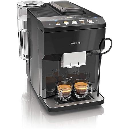 Siemens EQ.500 classic TP503R09 – Machine à café automatique avec écran TFT – Bac à grains et réservoir café moulu – 6 programmes – iAroma System – Couleur : Noir