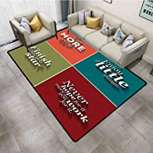 Bathroom Rugs Quotes Decor Collection of Minimalistic Style Love More Worry Less Enjoy The Little Things Office Chair mat for Carpet 4'x6'