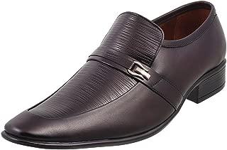 Metro Men Leather Flat Shoes (19-4681)