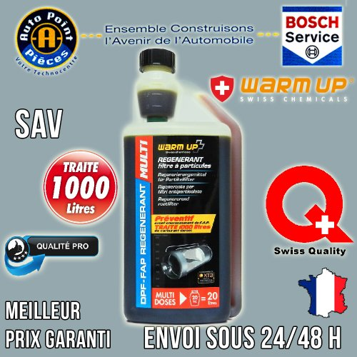 Warm UP FAP REGENERANT Multi Dose Régénérant FAP traite 1000L Diesel Préventif