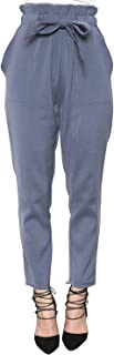 Women's Slim Straight Leg Stretch Casual Pants with Pockets
