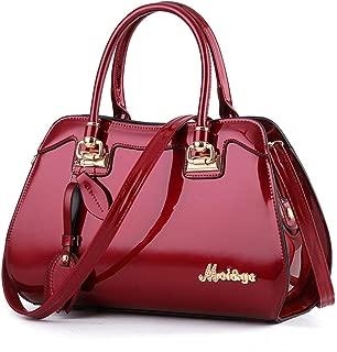 Womens Patent Leather Sequin Handbags Handle Cross-body Messenger Shoulder Bags Hobos