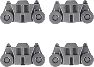 Dishwasher Wheels Lower Rack, W10195416 Lower Dishwasher Wheel, Perfect Replacement for Whirlpool, KitchenAid & Kenmore Dishwasher(4pcs)