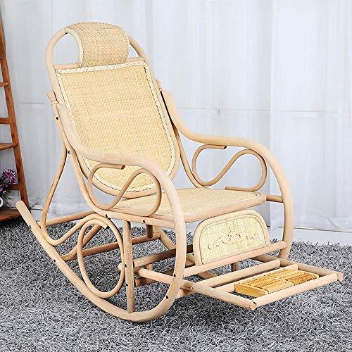YLCJ rotan stoel schommelstoel lunchpauze ligstoel houten chaise longue multifunctioneel bed (kleur: A) B