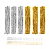 souG 600Pcs Pipe Cleaners Craft Chenille Stems,Creative Arts Chenille Stems for DIY Craft Christmas Decoration, 6 mm x 12Inch (Gold&Silver)