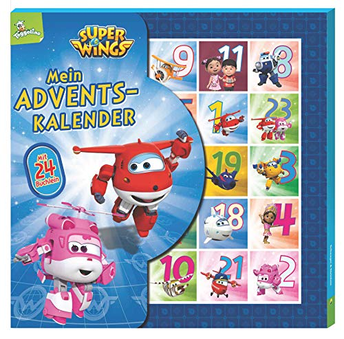 Super Wings Adventskalender: Kalenderbox mit 24 Büchlein