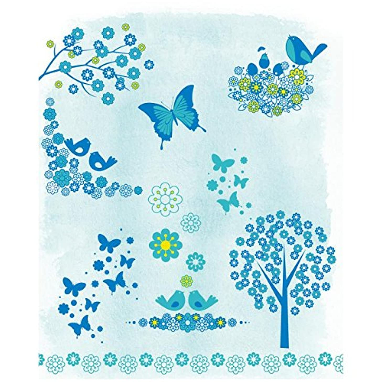 Artemio 10001244 Clear Stamps Flowers, Birds and Butterflies