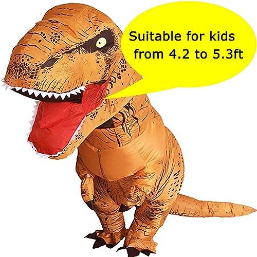 fe1badf80 VAMEI Dinosaur Costume Inflatable T-Rex Costume Kids Dinosaur Fancy Dress  Halloween Costume Funny Party